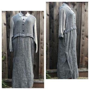 FLAX Jeanne Engelhart Maxi Dress RARE, Oversized M